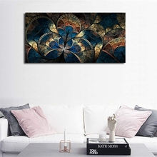 Large Canvas Wall Art Abstract Fractal Design Painting Digital Pattern Artwork Contemporary Picture for Home Office Decor