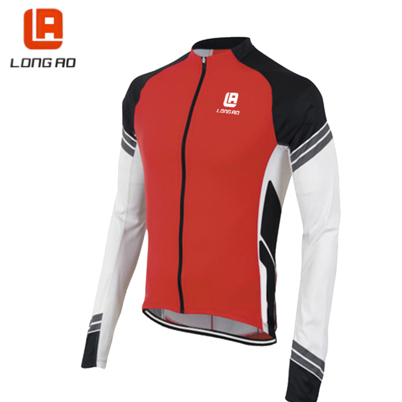 Men Cycling Jersey Quick Dry Anti-sweat Long Sleeve Autumn Spring Clothing Bicicleta MTB Maillot Ropa Ciclismo Hombre IP19