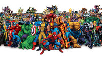 2017 TOP COOL Original Art Painting Marvel Comic Super Hero Collage Print Art Painting On Canvas