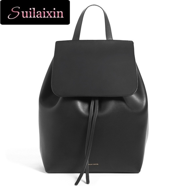Mansur Gavriel Backpacks For Women Designer Vintage Preppy Style Leather Backpack Drawstring Schoolbag For Teenage Travel bags