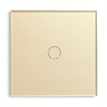 Bseed 240v Touch Light Switch 1 Gang 2 Way Touch Sensor Switch With Glass Panel Gold Touch Switch Eu Uk Us Au bseed 240v touch switch 1 to 3 gang touch switch dimming led with glass panel white black gold dimmer switch us au eu uk