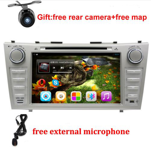 1024*600 2 Din Quad Core 8 Android 6.0 Car DVD GPS Navigation For Toyota Camry 2007 2008 2009 2010 Head Unit Car Stereo radio
