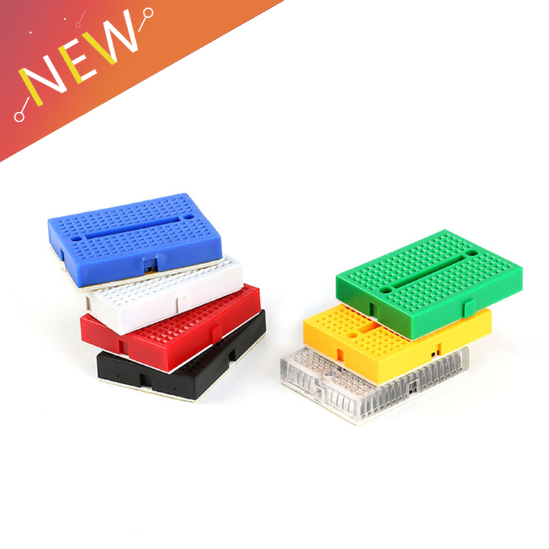 5Pcs/lot SYB-170 Mini Solderless Prototype Experiment Test Breadboard 170 Tie-points 35*47*8.5mm For Arduino Diy Kit