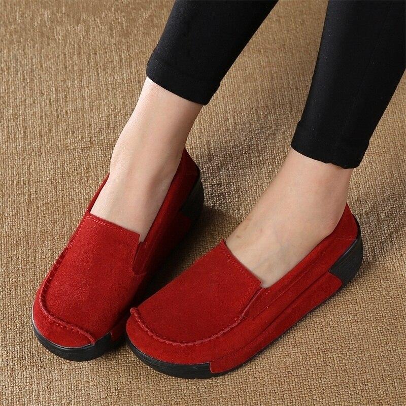 Zapatos de las mujeres Ocasionales Señora Aumento de La Altura Calzado Joven Muj