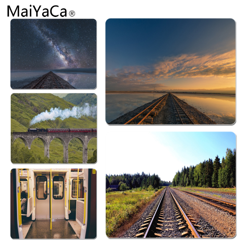 MaiYaCa Spirited Away in the Railway Gamer Speed Mice Retail Small Rubber Mousepad Size for 25X29cm Gaming Mousepads