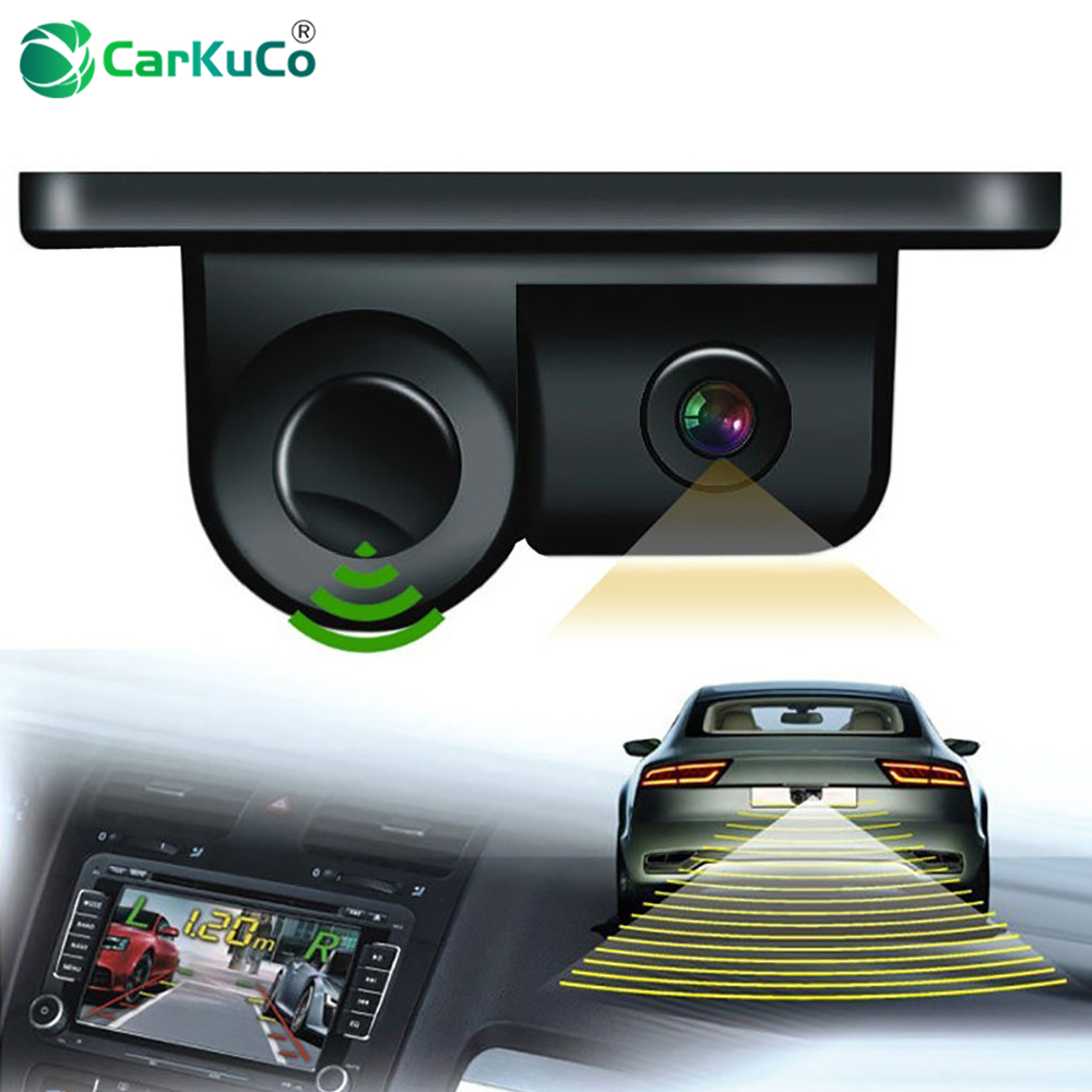 New 2 In 1 Auto Parktronic Sound Alarm Car Reverse Backup Video Parking Sensor Radar With HD Reversing Rear View Camera for Cars цены