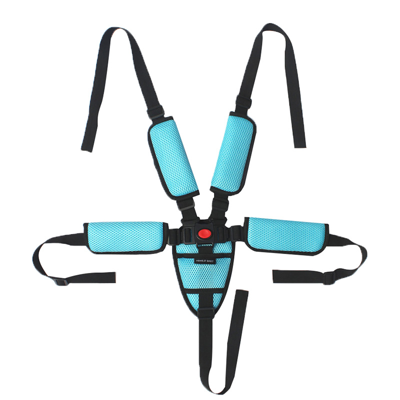 Adjustable Five-point Baby Seat belt For Baby stroller pram Highchair Dinning Chair Kid Infant Harness Fixed Belt Security Strap