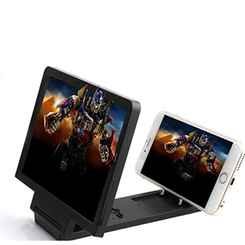 3D Phone Screen Amplifier to Enlarge Mobile with Foldable Stand and Eyes Protection
