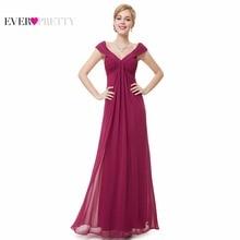 Sexy Evening Dresses Ever Pretty EP08457 Women Elegant Plus Size 2017 V-neck Long Maxi Party EveningDress