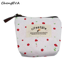 Small Canvas Purse Zip Wallet Lady Coin Case Bag Handbag Key Holder Fashion Brand Hot Sale