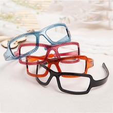 Fashion Glasses Shape Hairbands For Women Solid Color Headband Hair Hoop Vintage Novelty Girls Accessories