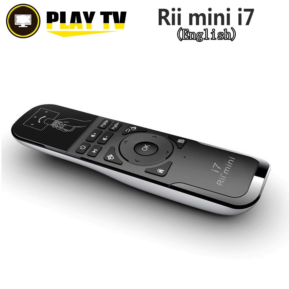 Original Rii Mini i7 2.4G Sem Fio Fly Air Mouse Controle Remoto construído em Eixos de Detecção De movimento para Android Caixa de TV Inteligente PC