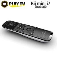 Rii-ratón remoto inalámbrico Mini i7, 2,4G, con detección de movimiento integrado, 6 ejes, para Android, decodificador, PC inteligente