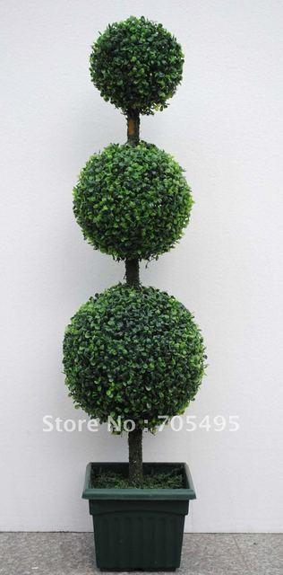 free shipping three tier green boxwood topiary two pcs