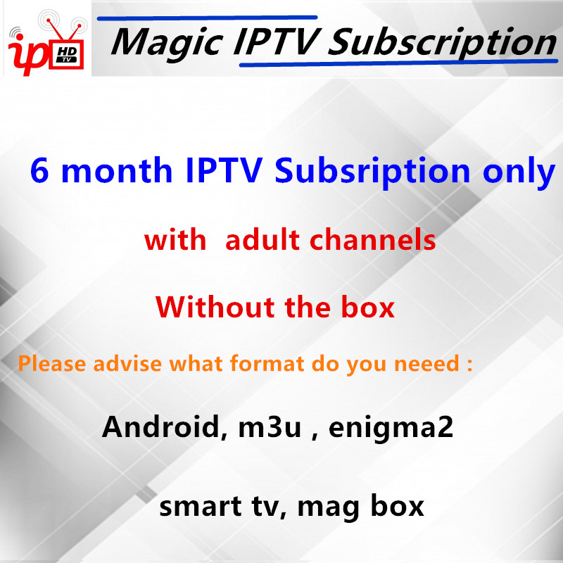 US $7 48 32% OFF|Magic IPTV Subscription X96W Android tv box Italy France  German UK 4000+Live 50,000 VOD+ Adult xxx iptv m3u mag Smart tv box-in