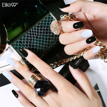 Elite99 Schwarz Weiß 10ML UV Gel Nagellack LED UV Lampe Gel Lack Gel Polnischen Semi Permanent Gel Lack nagel Primer Basis Top