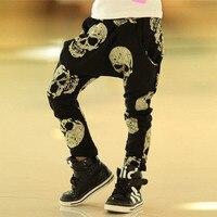 Hot Sale Cool Teen Boys Skeleton Printed Fashion Pants Kids Brand Joggers Spring Summer Autumn Children