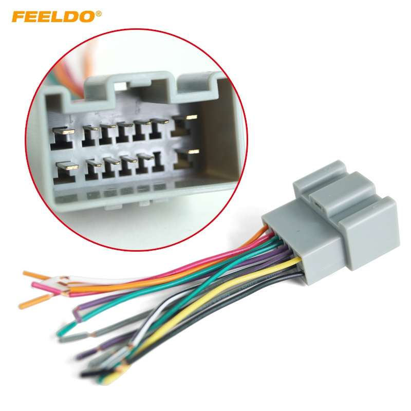 Feeldo Car Oem Audio Stereo Wiring Harness Adapter For
