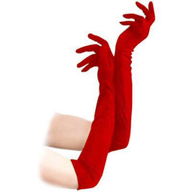 Women Evening Party Costume Gloves Women's Sexy Long Design Gloves Fashion Long Finger Gloves