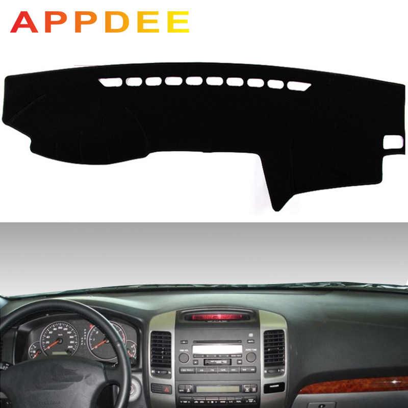 Appdubai لتويوتا لاند كروزر برادو j120 2003-2009 سيارة التصميم يغطي داشمات داش حصيرة الشمس الظل لوحة القيادة غطاء كابتر 2004 2
