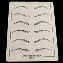 5PCS Professional Cosmetic Permanent Makeup Eyebrow Tattoo Practice Skin Fake Eyebrow Practice Skin Supply For Tattoo Artists