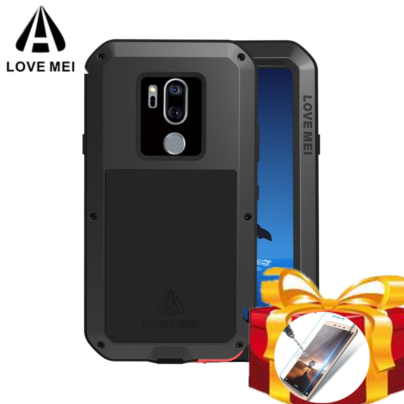 online store aa0b0 ac380 US $26.25 25% OFF|Gorilla glass filmGift) Waterproof Case For LG G7 ThinQ  Love Mei Hard Shockproof Aluminum For LG G7 Cases Protection Phone Cover-in  ...