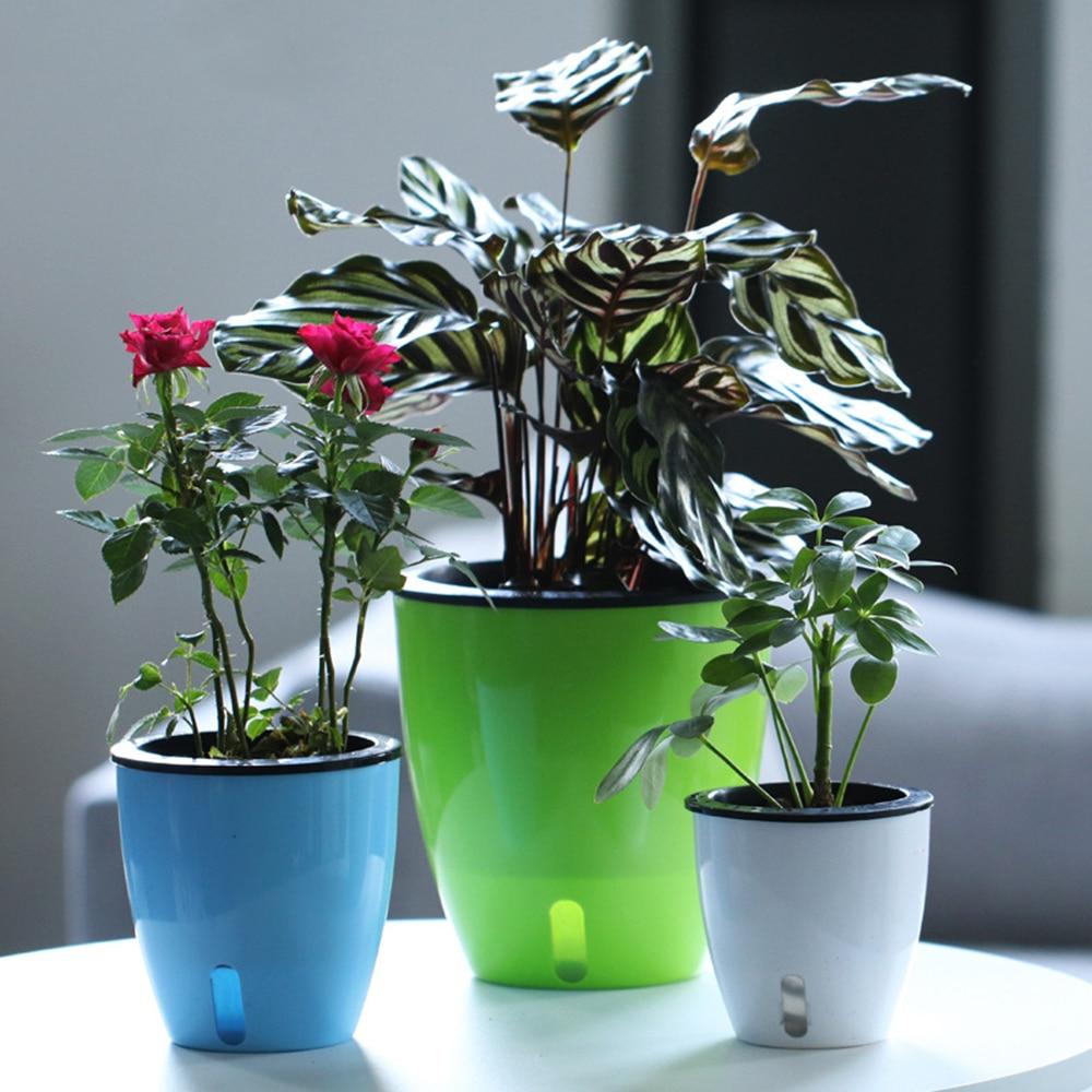 Automatic Self Watering Flower Plants Pot For Garden Indoor Home Decoration Gardening Put In Floor Irrigation
