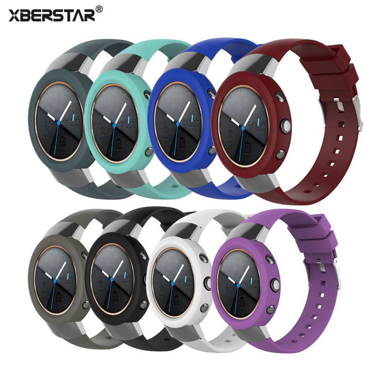 XBERSTAR Replacement Rubber Watch band Wrist Strap for ASUS ZENWATCH 3 Protect Shell Case for ASUS ZENWATCH3 Watchbands