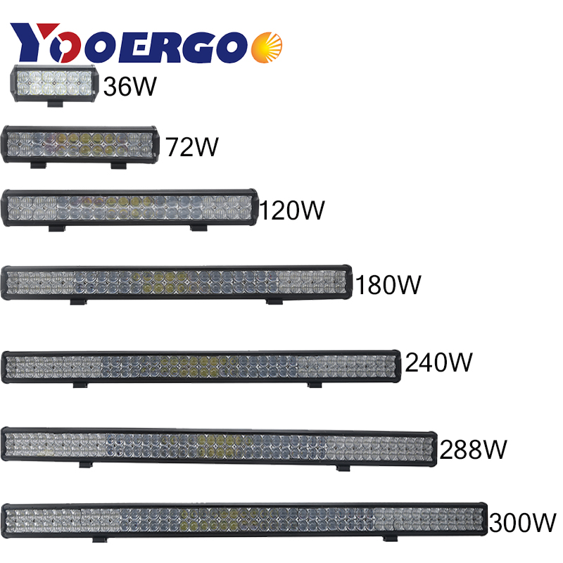 7.12.13.22.31 inch 36W 54W 72W 120W 180W 5D LED Work Light Bar for Tractor Boat OffRoad 4WD 4x4 Truck SUV ATV 12V 24v image