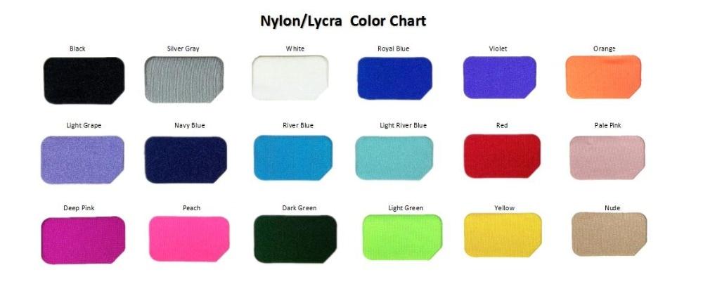 NylonLycra Color Chart