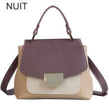 Women Handbag Pu Leather Shell Messenger Bag Female Patchwork Shoulder Bag Satchel Lock Small Brand Tote Bag Bolsa Feminina цены