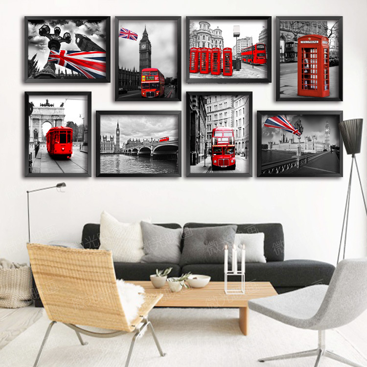 Modern wall art picture for living room organic glass home for Home decorations london