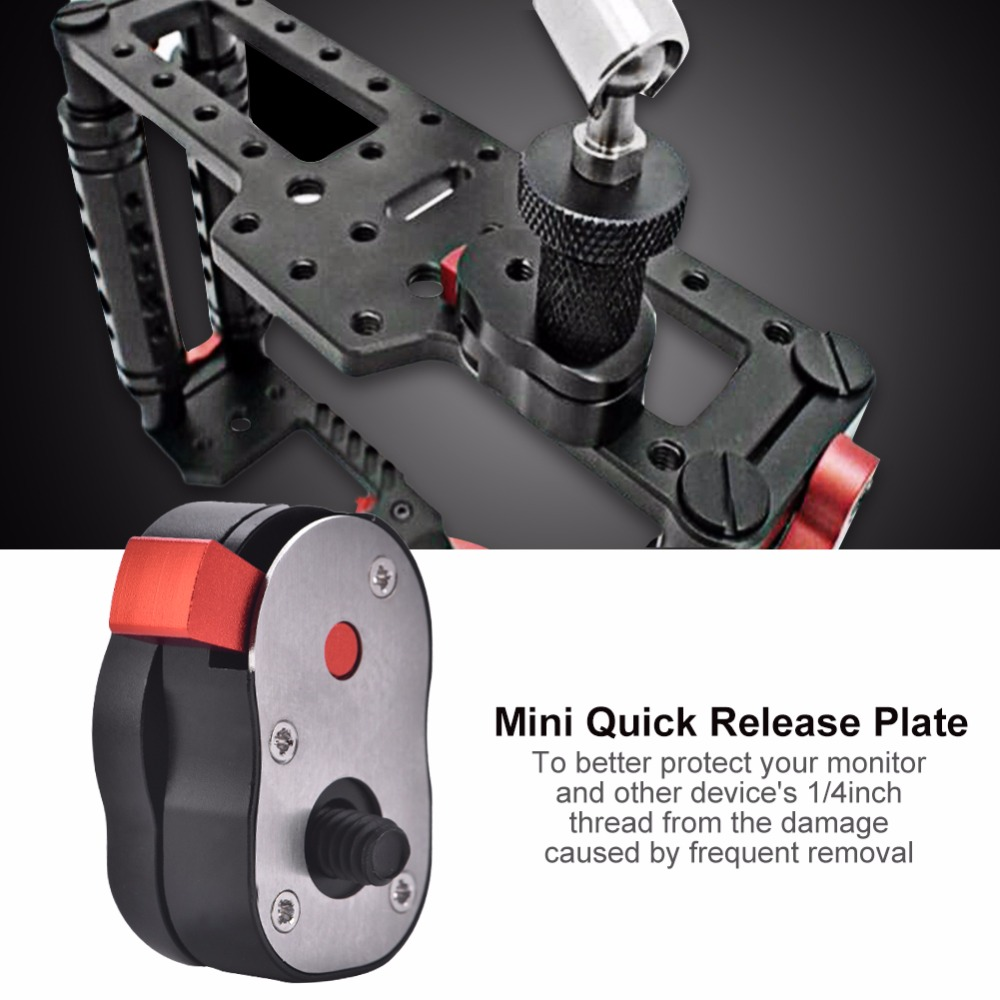 Release Plate Mount Adapter with mini for CD Monitor Camera & DV Camcorder
