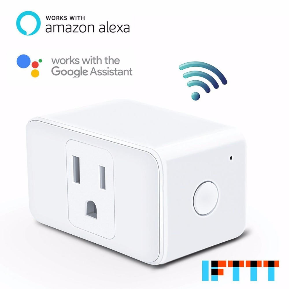 Meross Home Automation Phone Remote Control Voice Control Wifi Smart Plug socket Working ...
