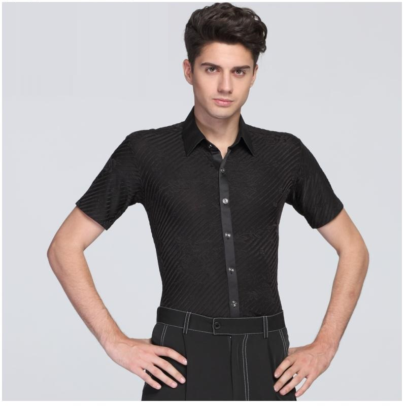 Men's Summer Square Dancing Shirt Male Ballroom Dancing Suit Adult Standard Dancing Costumes Short Sleeve Dancing Coat B 6992-in Latin from Novelty & Special Use on Aliexpress.com   Alibaba Group