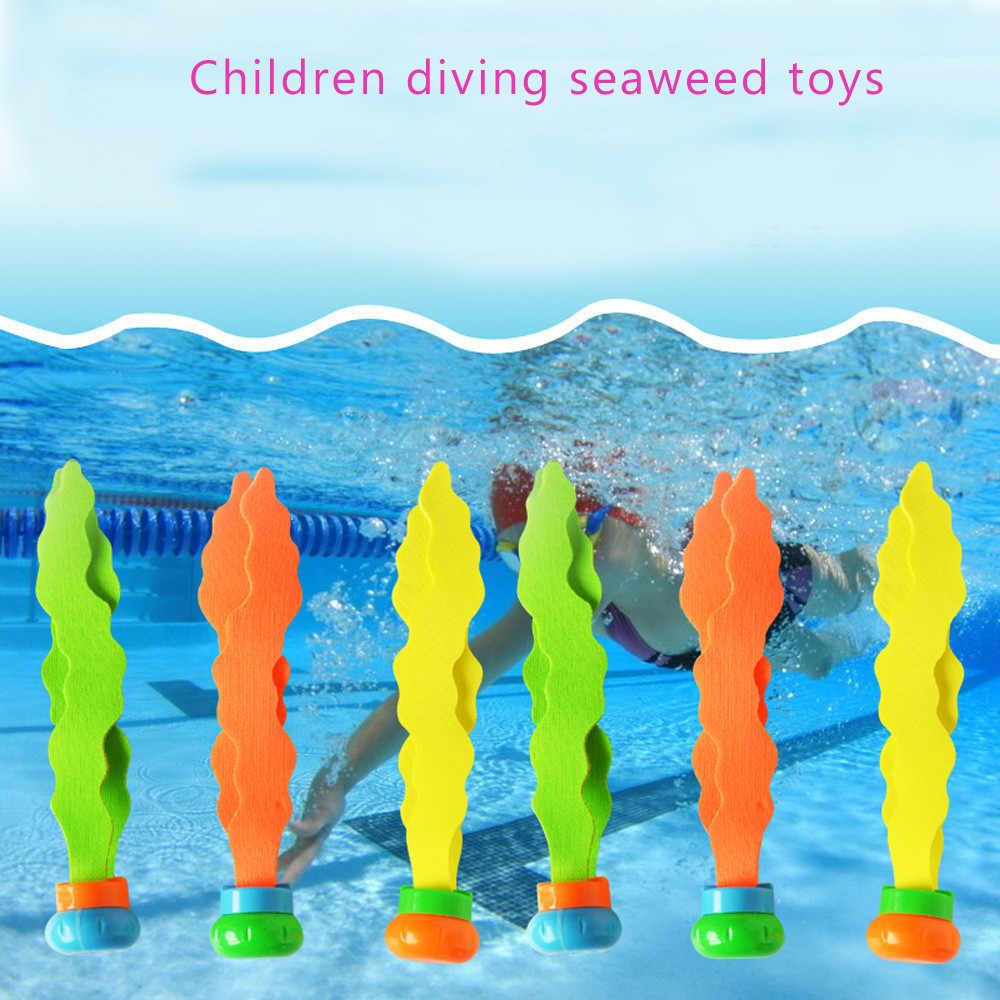 Игрушки для ванны в ванной, детская вода, 3 шт., дайвинг, подводный бассейн, красочная раковина для бассейна, тренировочная игрушка для дайвинга, водоросли, D300204