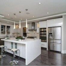 Стиль современный глянцевый белый лак Кухонная мебель дизайн индивидуальные кухонные шкафы L1606020