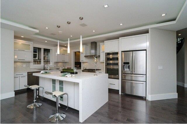 2017 nuovo stile moderno lucido laccato bianco mobili da cucina ...