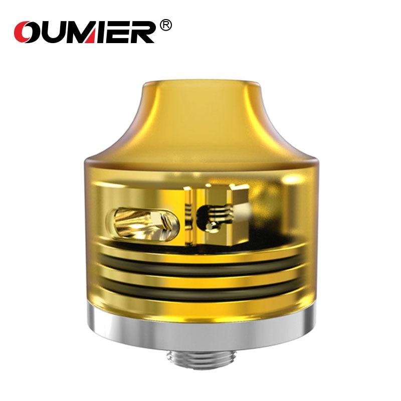Quality Original OUMIER WASP NANO RDA Atomizer Bottom Filling  22mm WASP NANO Tank PEI  Atomizer for 510 Mod E-cig Dense Smok