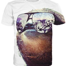 Women Men 3d T Shirt Sloth With Sunglasses Wads Of Cash Refl