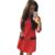 Plus Size Mini Vestido New Arrival Mulheres Bolsos arco Assentamento Inverno Reta Ocasional de Três Quartos Mangas Vestido Sólida LJ1214QAFE