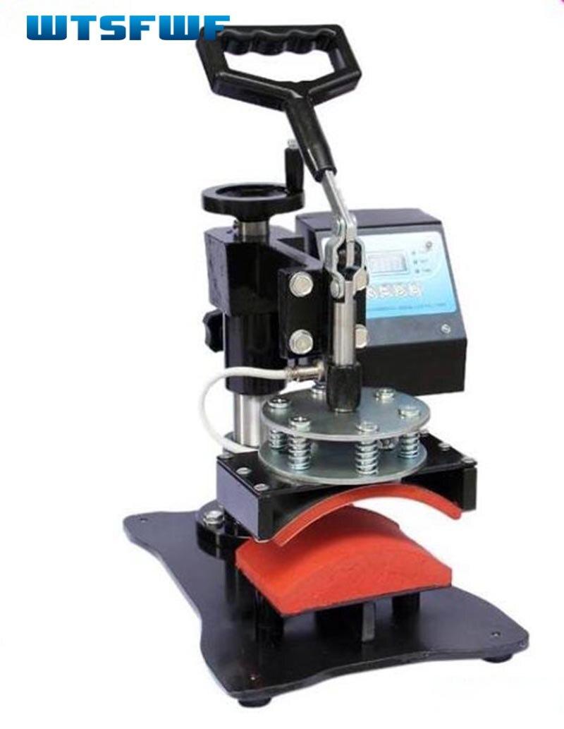 Wtsfwf 8*15 cm Portable Cap Digital Presse de La Chaleur Chapeau Imprimante Imprimante à Transfert Par Sublimation Machine Imprimante Bouchon Machine