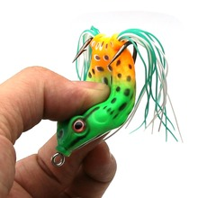 1PC 4.5/6cm 8/14 g Frog Lure Fishing Lures Treble Hooks Top Water Ray Frog Artificial Minnow Crank Strong Artificial Soft Bait