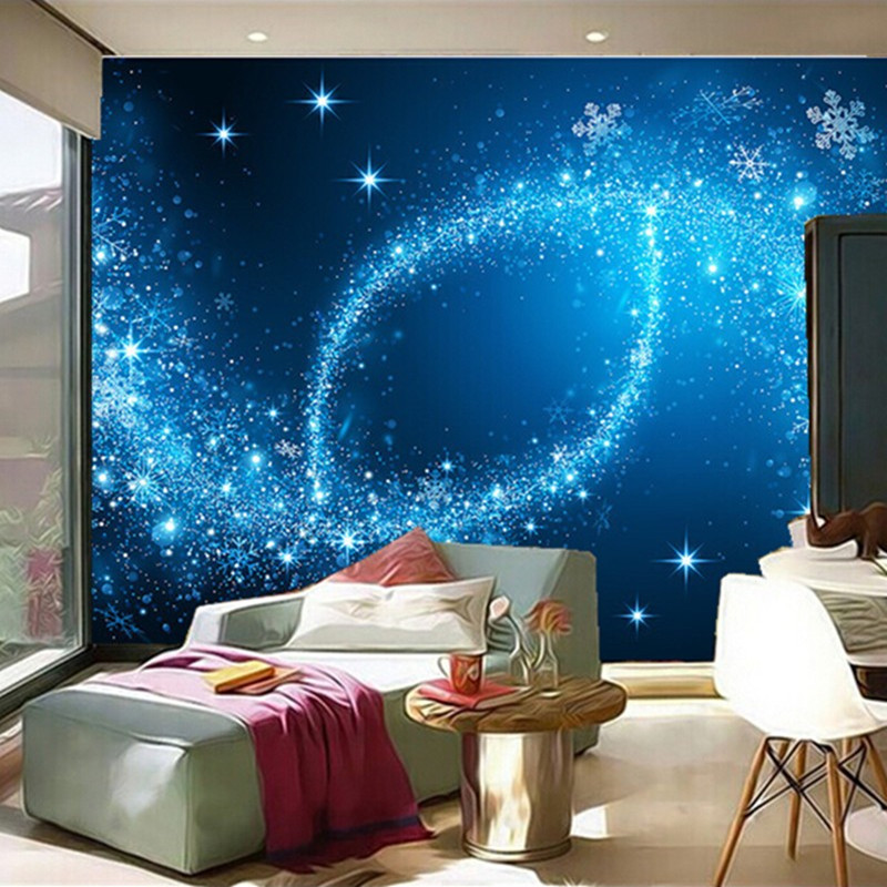 Custom 3D murals,3D starlight night sky ceiling frescoes papel de parede,hotel ktv living room sofa TV wall bedroom wallpaper european church square ceiling frescoes murals living room bedroom study paper 3d wallpaper