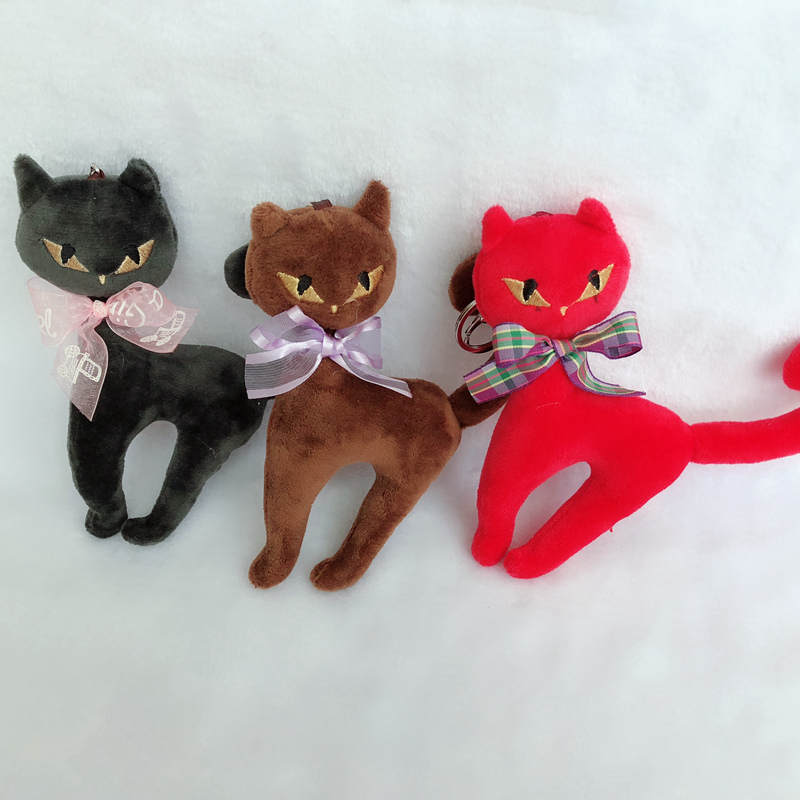 1PC Kawaii New 6 colors , 15CM Cats Stuffed Toy , Keychain Cat Gift plush Toy Doll , Kid's Party Birthday plush toys