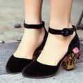 Primavera verano mujer stange aiweiyi talón zapatos de tacón alto de la boda zapatos de novia de plataforma de encaje zapatos de fiesta para las mujeres zapatillas mujer