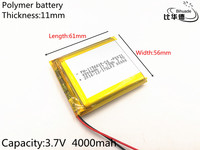 3 7V Lithium Polymer Battery 115661 4000MAH Tablet PC Navigation Mobile Power GIY