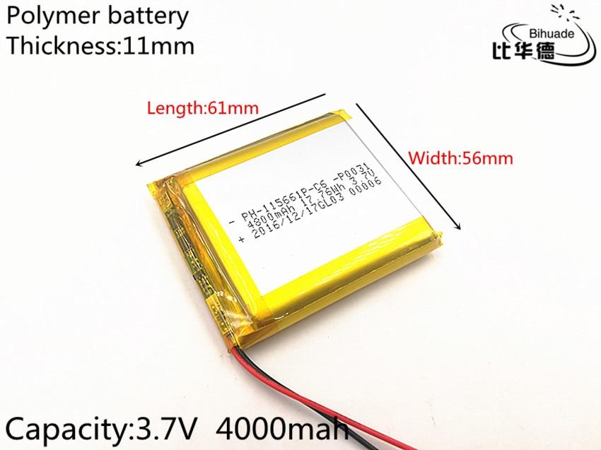 3 7V lithium polymer battery 115661 4000MAH Tablet PC navigation mobile power GIY 3 7v lithium polymer battery 925593 5200mah mobile power tablet pc diy page 6