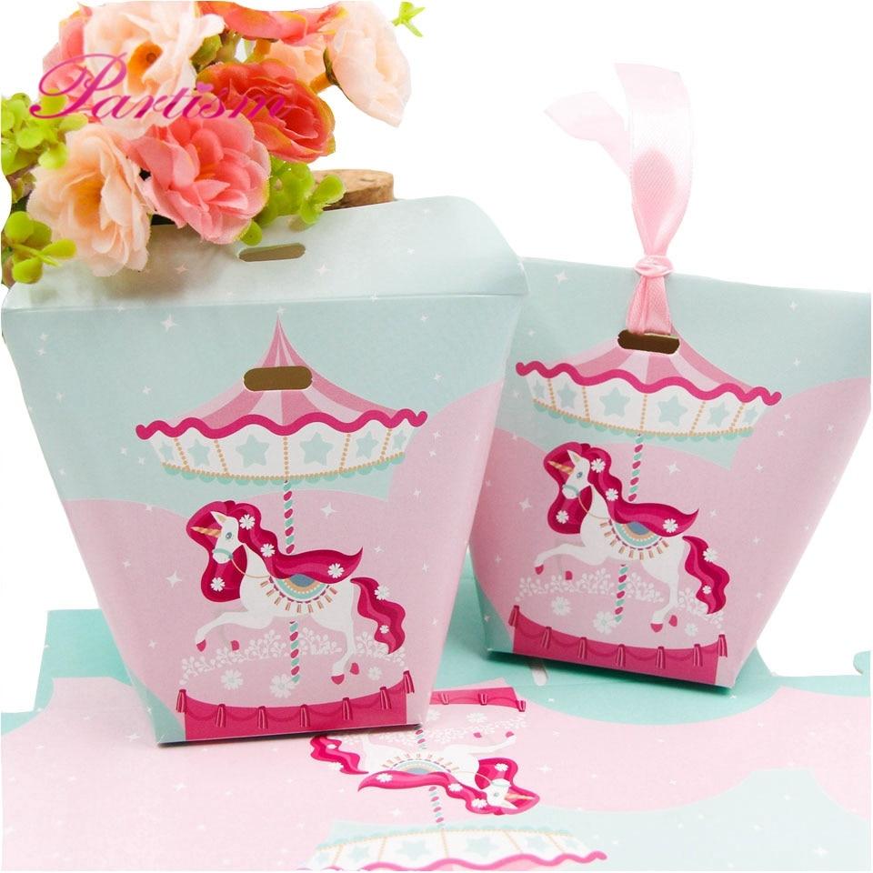 Aliexpress.com : Buy 10PCS/Lot DIY Unicorn Gift Bag Pink Ribbon ...