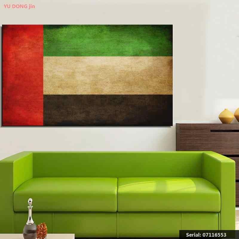 الإمارات الامارات العلم تزال الحياة الانطباعي النفط اللوحة فن الرسم رذاذ غير المؤطرة قماش اليد عمل جدار action07116553